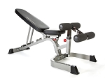 BodyCraft F602v2 Exercise Weight Bench Flat/Incline/Decline w/ Wheels