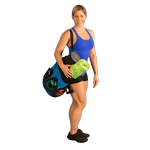 BODY-SOLID Fitness Pack - Includes Yoga/Exercise Mat, Foam Roller, 5 Resistance Bands and Tote Bag (Bstfitbag)