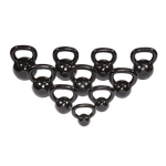 BODY-SOLID (KBS275) Kettle Bell Cast Iron Set Singles 5-50