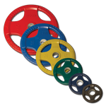 BODY-SOLID (ORST255) Rubber / Hand Grip/ Olympic Plates 255 LBS Set