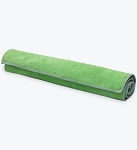Gaiam Dual Grip Yoga Mat Towel - Green Vine/Charcoal