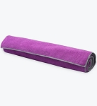 Gaiam Dual Grip Yoga Mat Towel - Orchid/Storm