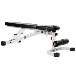 THE X-MARK FID Flat Incline Decline Weight Bench XM-7604-WHITE