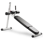 THE X-MARK 12 Position Adjustable Ab Bench - White (XM-7608-WHITE)