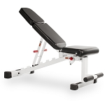 THE X-MARK Adjustable Dumbbell Weight Bench - White (XM-7630-White)