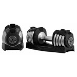 THE X-MARK Pair of 25 lb. Weight Lifting Adjustable Dumbbells (XM-3305)