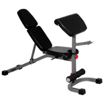 THE X-MARK FID Flat Incline Decline Weight Bench with Preacher Curl - Gray (XM-4417)