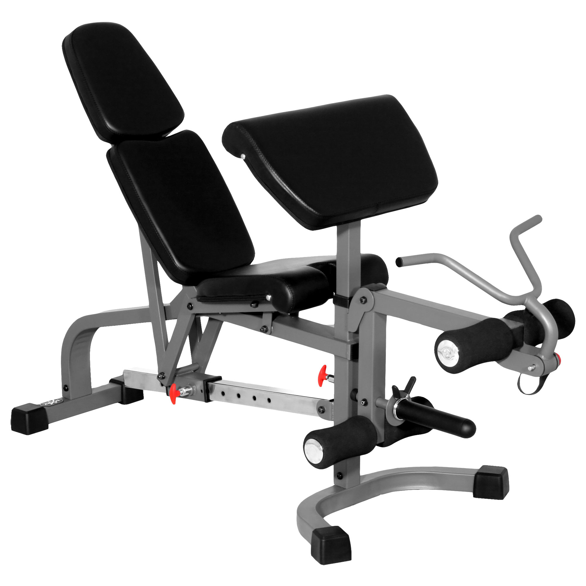The X Mark Fid Flat Incline Decline Weight Bench With Leg