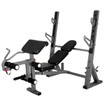 THE X-MARK International Olympic Weight Bench with Leg Extension and Preacher Curl Attachment (XM-4424)