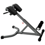 THE X-MARK 45 Degree Ab Back Hyperextension Roman Chair - Gray (XM-4428)