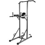 THE X-MARK Power Tower with Dip Station and Pull Up Bar - Gray (XM-4434)