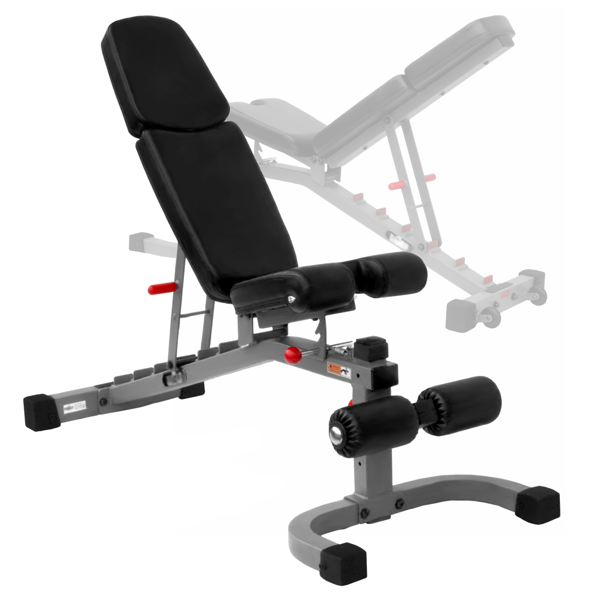 The X Mark Fid Flat Incline Decline Weight Bench Gray