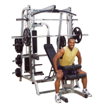 BODY-SOLID Series 7 Smith Machine Gym System w/ Weight Bench (GS348QP4)