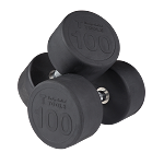 BODY-SOLID Rubber Round Dumbbells 5-50 lb (pairs) (SDPS550)