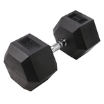 BODY-SOLID Rubber Coated Hex Dumbbells 100lbs. (Sold as Single) (SDR100)