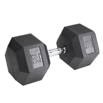 BODY-SOLID Rubber Coated Hex Dumbbells 105lbs. (Sold as Single) (SDR105)