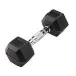 BODY-SOLID Rubber Coated Hex Dumbbells 10lbs. (Sold as Single) (SDR10)