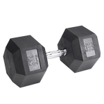 BODY-SOLID Rubber Coated Hex Dumbbells 110lbs. (Sold as Single) (SDR110)