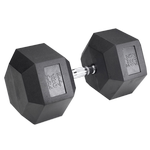 BODY-SOLID Rubber Coated Hex Dumbbells 120lbs. (Sold as Single) (SDR120)