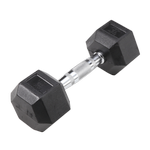 BODY-SOLID Rubber Coated Hex Dumbbells 12lbs. (Sold as Single) (SDR12)