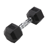 BODY-SOLID Rubber Coated Hex Dumbbells 15lbs. (Sold as Single) (SDR15)