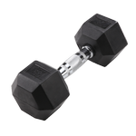BODY-SOLID Rubber Coated Hex Dumbbells 20lbs. (Sold as Single) (SDR20)