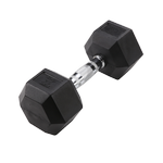 BODY-SOLID Rubber Coated Hex Dumbbells 25lbs. (Sold as Single) (SDR25)