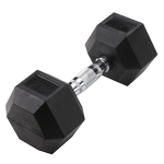 BODY-SOLID Rubber Coated Hex Dumbbells 30lbs. (Sold as Single) (SDR30)