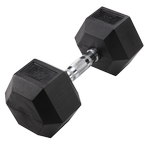 BODY-SOLID Rubber Coated Hex Dumbbells 40lbs. (Sold as Single) (SDR40)