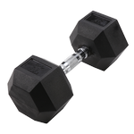 BODY-SOLID Rubber Coated Hex Dumbbells 45lbs. (Sold as Single) (SDR45)
