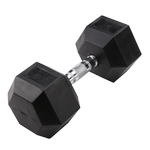 BODY-SOLID Rubber Coated Hex Dumbbells 50lbs. (Sold as Single) (SDR50)