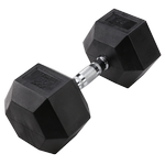 BODY-SOLID Rubber Coated Hex Dumbbells 55lbs. (Sold as Single) (SDR55)