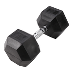 BODY-SOLID Rubber Coated Hex Dumbbells 60lbs. (Sold as Single) (SDR60)