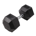 BODY-SOLID Rubber Coated Hex Dumbbells 65lbs. (Sold as Single) (SDR65)