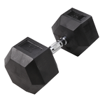 BODY-SOLID Rubber Coated Hex Dumbbells 75lbs. (Sold as Single) (SDR75)