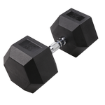 BODY-SOLID Rubber Coated Hex Dumbbells 80lbs. (Sold as Single) (SDR80)