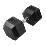 BODY-SOLID Rubber Coated Hex Dumbbells 85lbs. (Sold as Single) (SDR85)