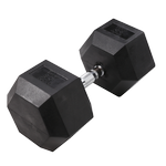 BODY-SOLID Rubber Coated Hex Dumbbells 90lbs. (Sold as Single) (SDR90)