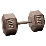 BODY-SOLID Cast Hex Dumbbells 100lbs. (Sold as Single) (SDX100)