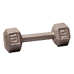 BODY-SOLID Cast Hex Dumbbells 10lbs. (Sold as Single) (SDX10)