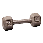 BODY-SOLID Cast Hex Dumbbells 12lbs. (Sold as Single) (SDX12)