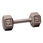 BODY-SOLID Cast Hex Dumbbells 15lbs. (Sold as Single) (SDX15)