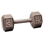 BODY-SOLID Cast Hex Dumbbells 20lbs. (Sold as Single) (SDX20)