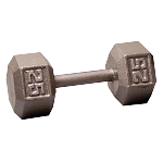 BODY-SOLID Cast Hex Dumbbells 25lbs. (Sold as Single) (SDX25)