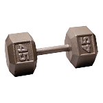 BODY-SOLID Cast Hex Dumbbells 45lbs. (Sold as Single) (SDX45)