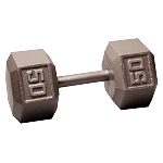 BODY-SOLID Cast Hex Dumbbells 50lbs. (Sold as Single) (SDX50)