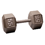 BODY-SOLID Cast Hex Dumbbells 55lbs. (Sold as Single) (SDX55)