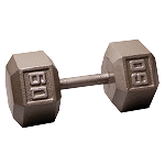 BODY-SOLID Cast Hex Dumbbells 60lbs. (Sold as Single) (SDX60)