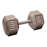 BODY-SOLID Cast Hex Dumbbells 65lbs. (Sold as Single) (SDX65)