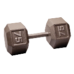 BODY-SOLID Cast Hex Dumbbells 75lbs. (Sold as Single) (SDX75)